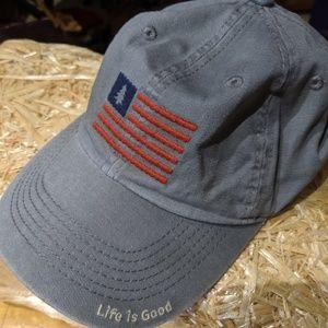 NWOT Life is Good Unisex Flag Cap